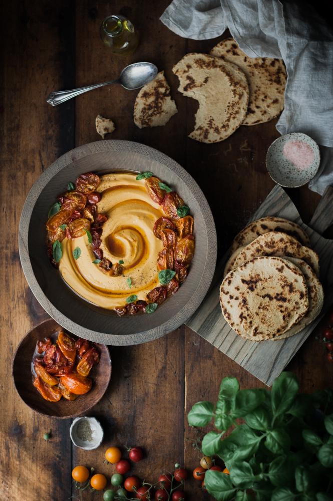 Slow-roasted Tomato & Basil Hummus + Quick Whole Wheat Yogurt ...