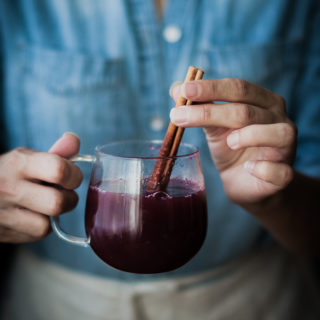 Mulled Spiced Concord Grape Cider