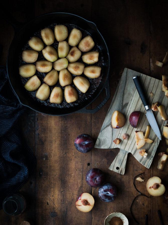 Spiced Wine + Plum Tart Tatin