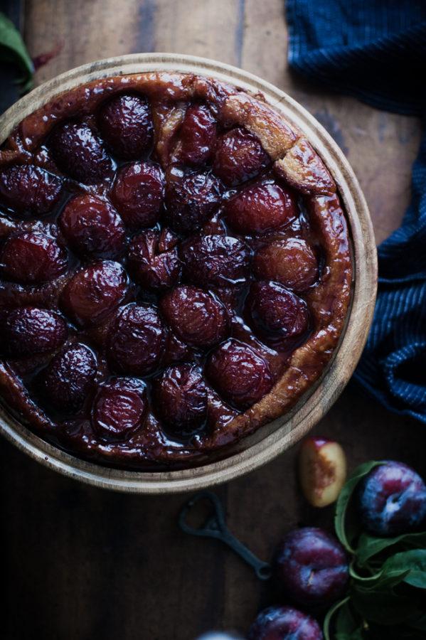 Spiced Wine + Plum Tart Tatin - The Kitchen McCabe