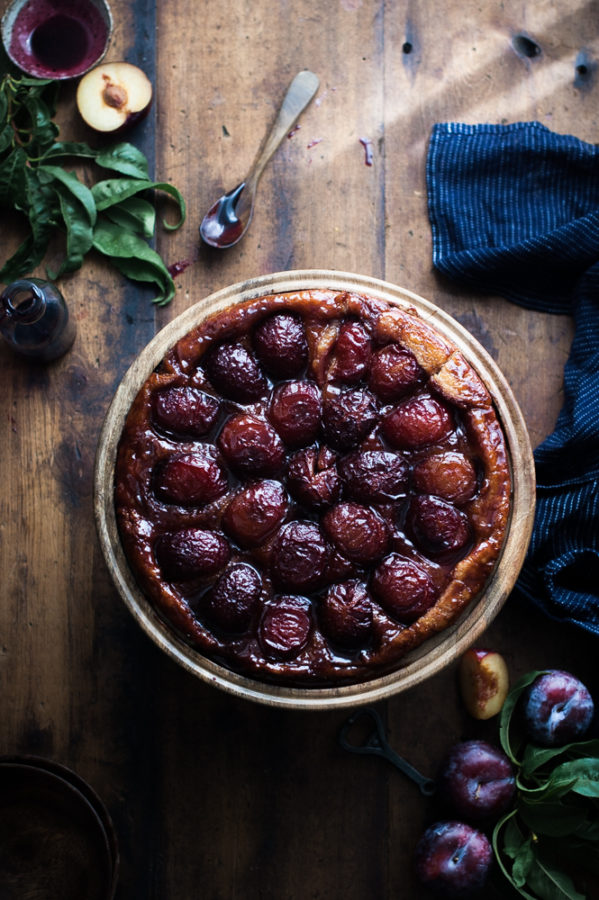 Spiced Wine + Plum Tarte Tatin - The Kitchen McCabe
