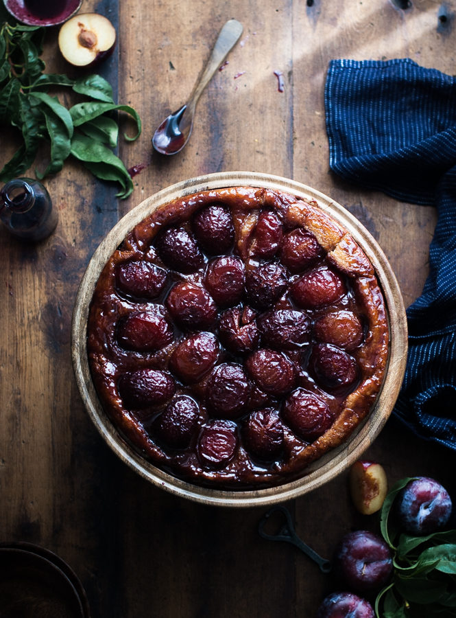 Spiced Wine + Plum Tarte Tatin