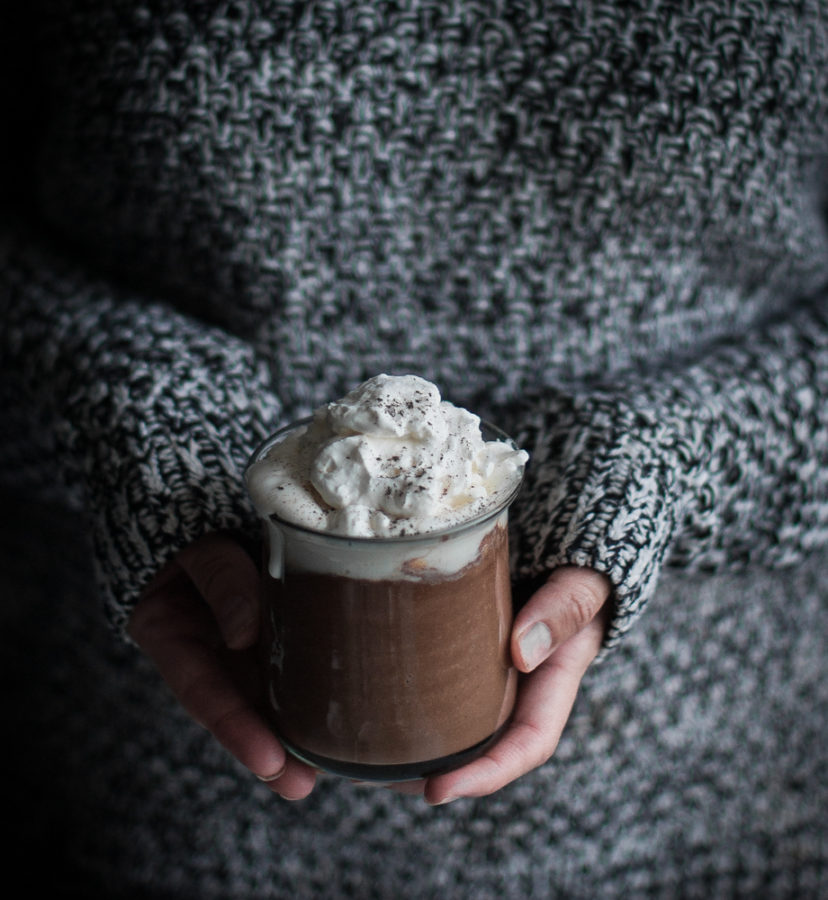 London Fog Hot Chocolate + Mapled Whipped Cream