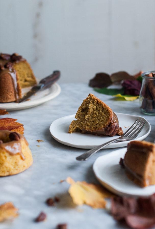 Pumpkin Butter Cake + Maple Bourbon Caramel & Candied Pecans - The ...