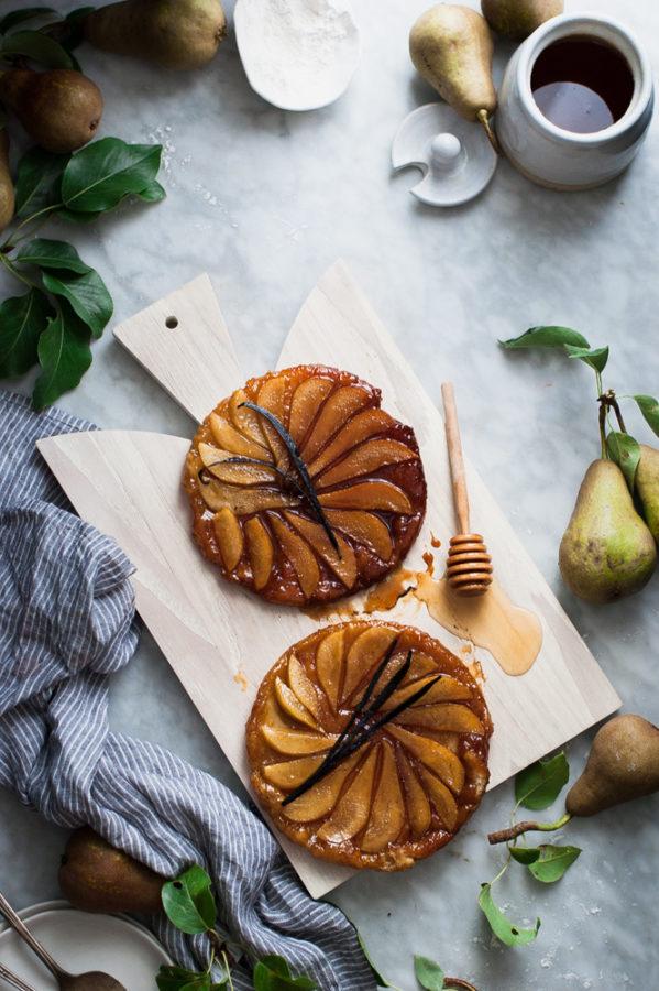 Salted Honey + Vanilla Bean Pear Tarte Tatin