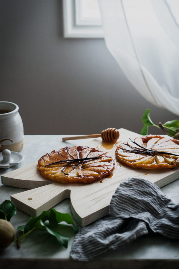 Salted Honey + Vanilla Bean Pear Tarte Tatin