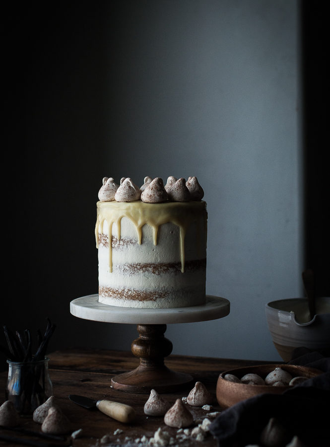 Vanilla Bean Butter Cake + White Chocolate Mousse & a 3 Year Blogiversary!