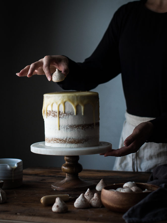Vanilla Bean Butter Cake + White Chocolate Mousse