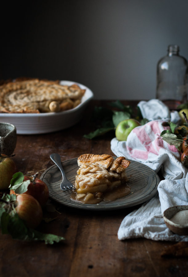 Brown Butter + Maple Caramel Apple Pie