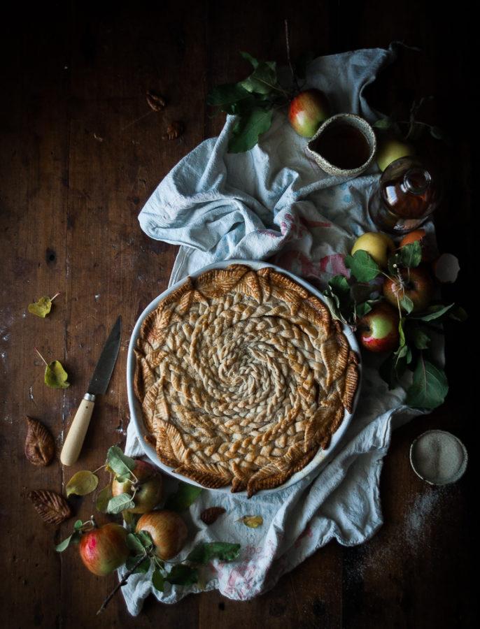 Brown Butter + Maple Caramel Apple Pie