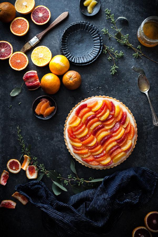 Lemon & Vanilla Cream Citrus Tart (gf, paleo, vegan friendly)