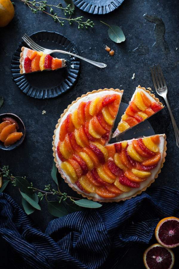 Lemon & Vanilla Cream Citrus Tart (gf, paleo, vegan friendly)