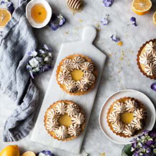 Coconut Lemon Meringue Tarts (Paleo, GF)