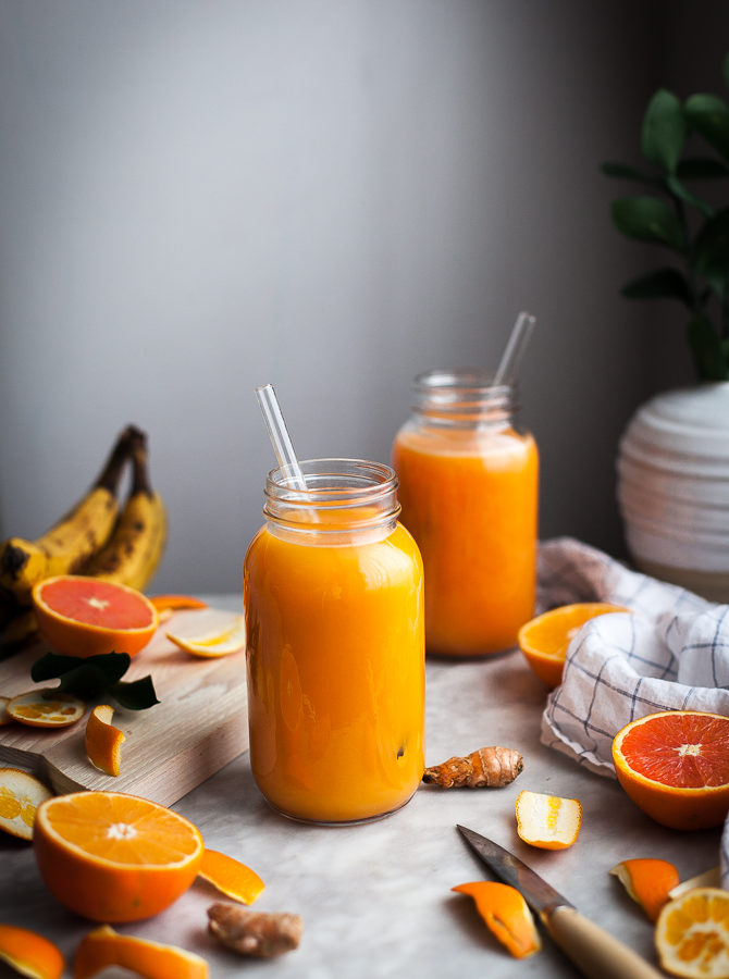 Pineapple Orange Banana Juice + Vanilla & Turmeric