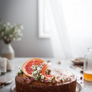 Semolina Cake + Rose & Grapefruit Syrup