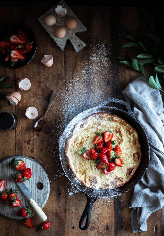 Dutch Baby + Balsamic Maple Berries & Whipped Chevre Cream (GF)