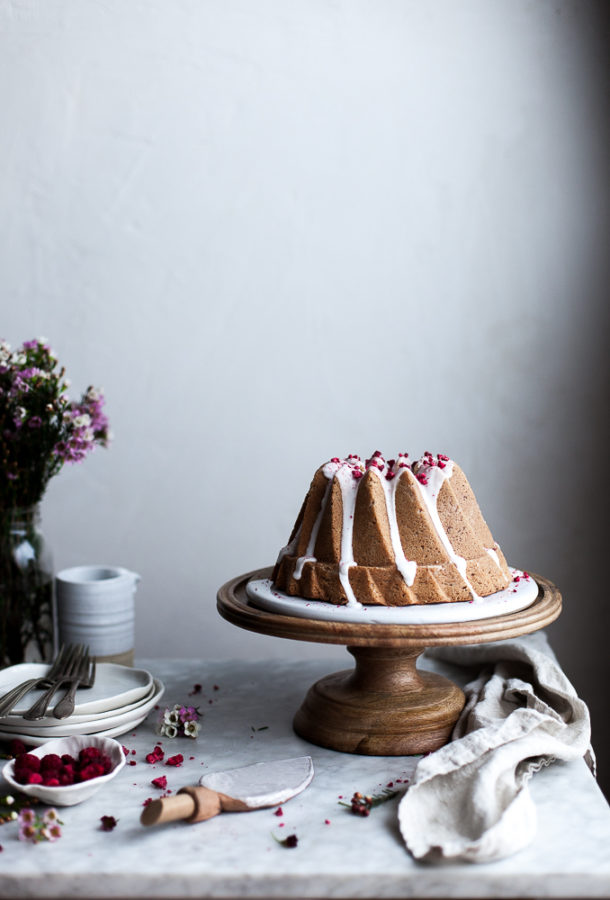 Raspberry Rose Bundt Cake (GF)