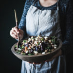Chopped Chicken Wild Rice Salad + Balsamic Lemon Cilantro Dressing
