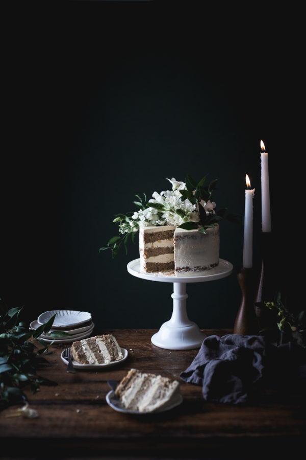 Hummingbird Cake + Lavender Swiss Meringue Buttercream (GF)