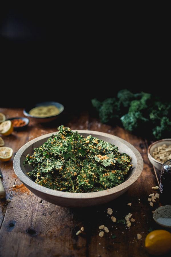 Nutty Southwestern Kale Chips