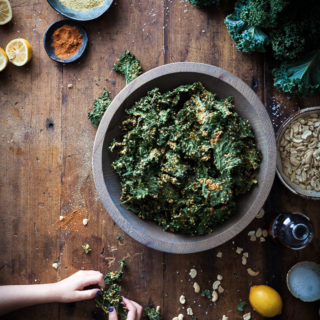Nutty Southwestern Kale Chips