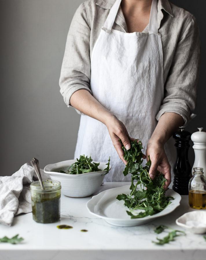 Pulled Pork & Veggie Hash + Arugula Chimichurri