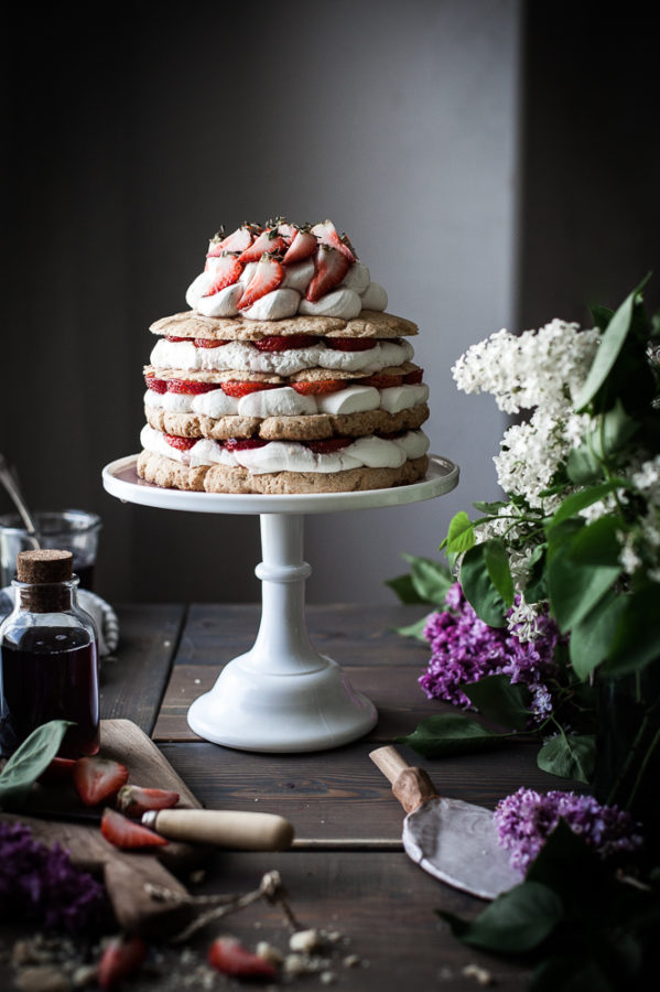 Giant Lilac Scented Strawberry Shortcake The Kitchen Mccabe