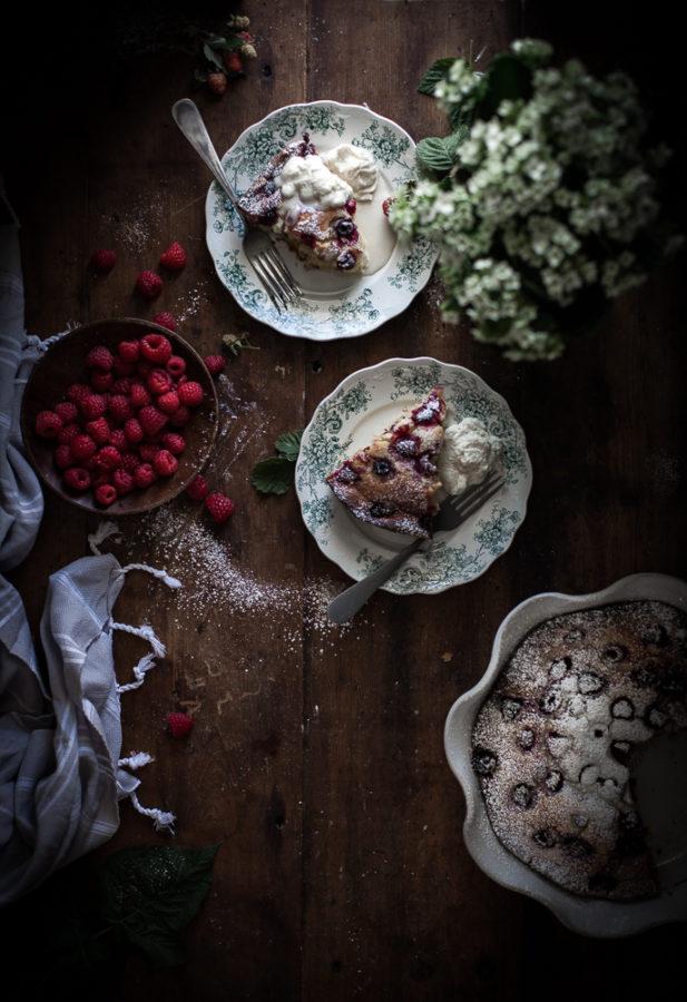 Rapberry Ricotta Almond Cake