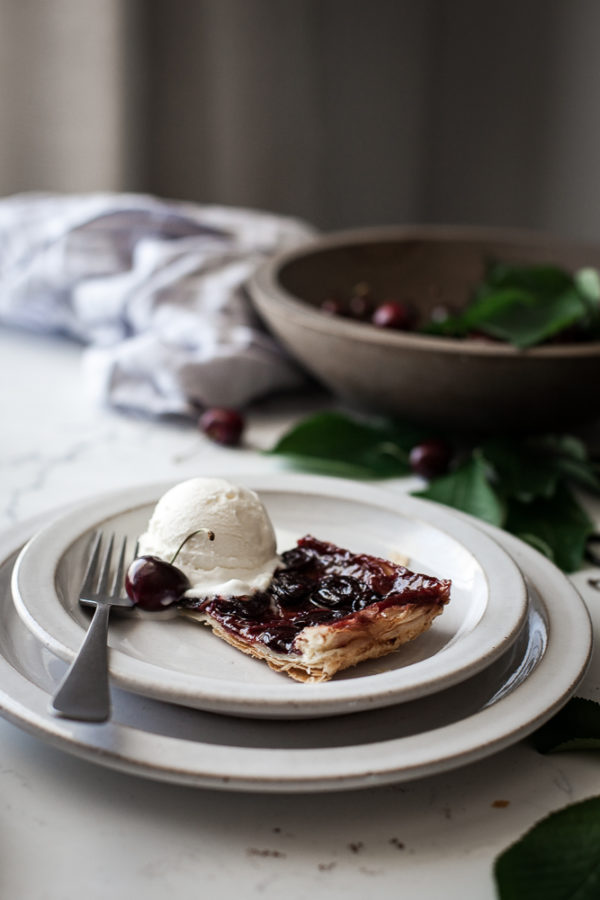 Cherry + Browned Butter & Vanilla Bean Tart Tatin