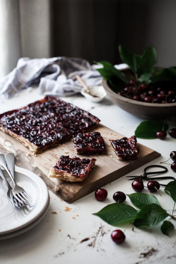 Cherry + Browned Butter & Vanilla Bean Tart Tatin