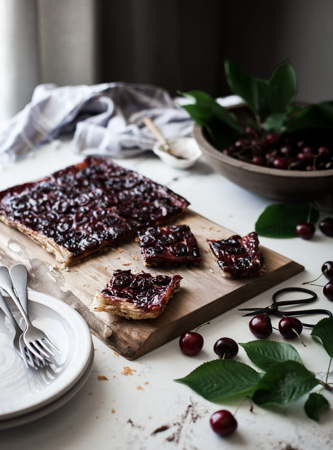Cherry + Browned Butter & Vanilla Bean Tarte Tatin