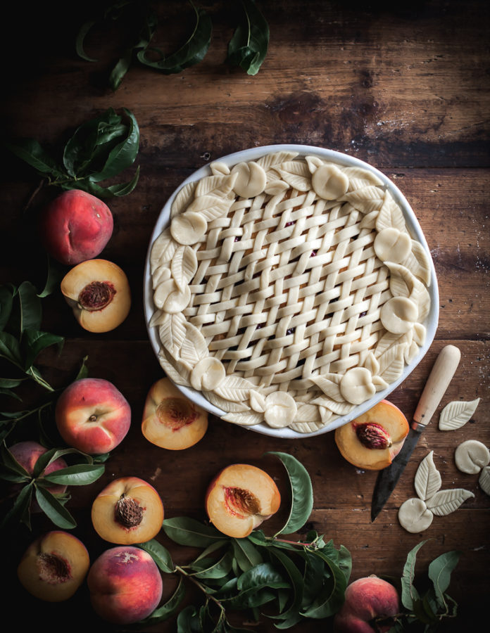 Peach & Blackberry Pie