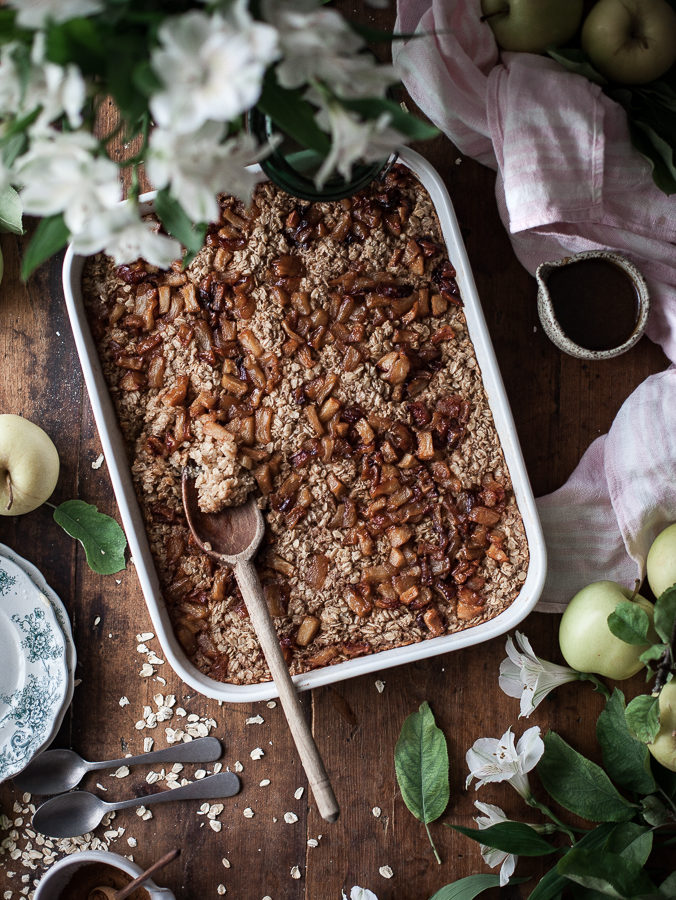 Caramelized Apple & Browned Butter Baked Oatmeal