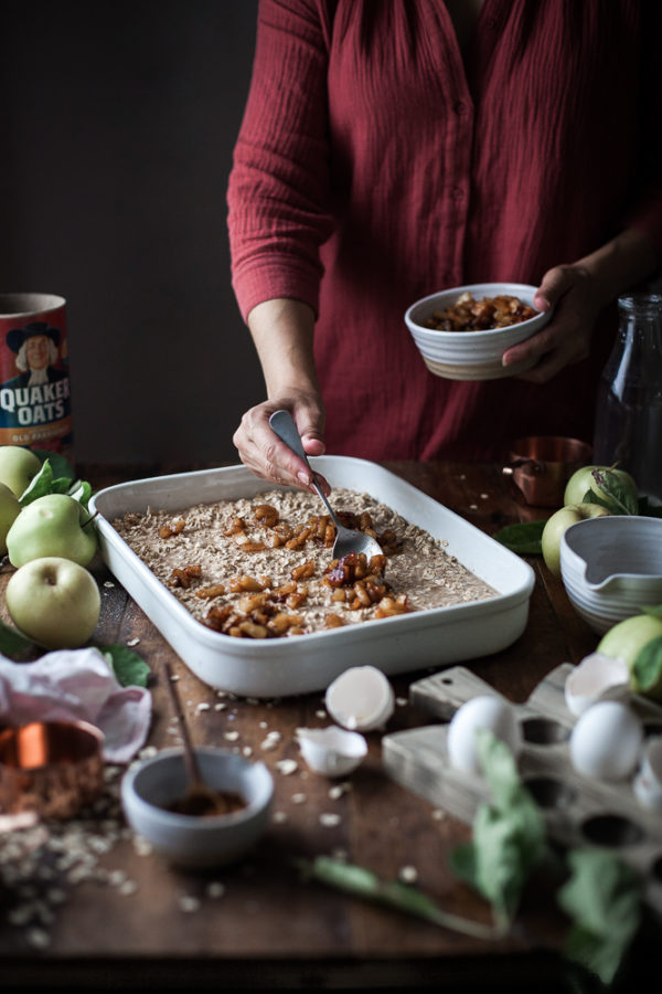 Caramelized Appe & Browned Butter Baked Oatmeal