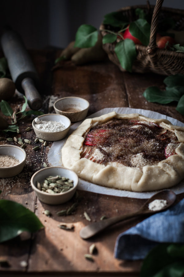 Pear Galette + Browned Butter & Cardamom