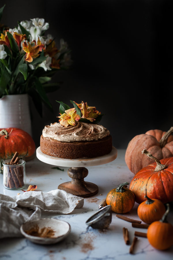 One-bowl Zucchini Pumpkin Cake + Brown Butter Frosting