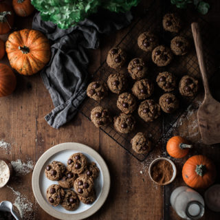 Pumpkin Brown Butter Chocolate Chip Cookies