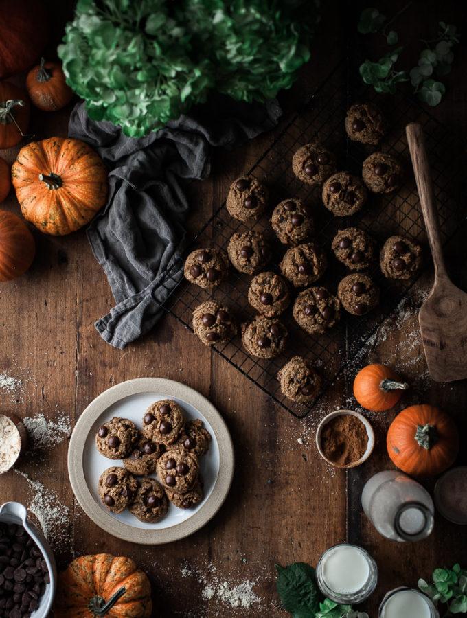 Pumpkin Brown Butter Chocolate Chip Cookies