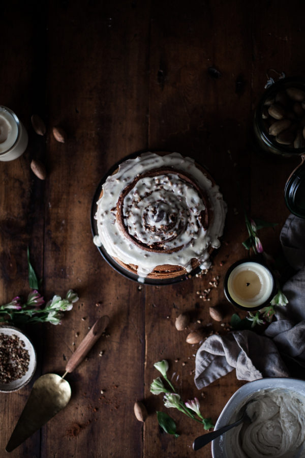 Giant Whole Wheat Toasted Pecan-stuffed Cinnamon Roll