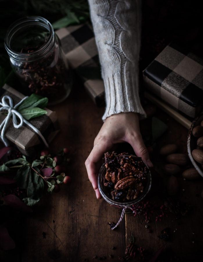 Maple Pecan Bark + Cranberries, Orange Zest & Black Pepper