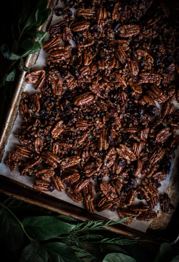 Maple Pecan Bark + Cranberries, Orange Zest & Black Pepper