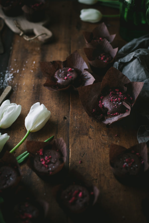 Chocolate Raspberry Truffle Cakes