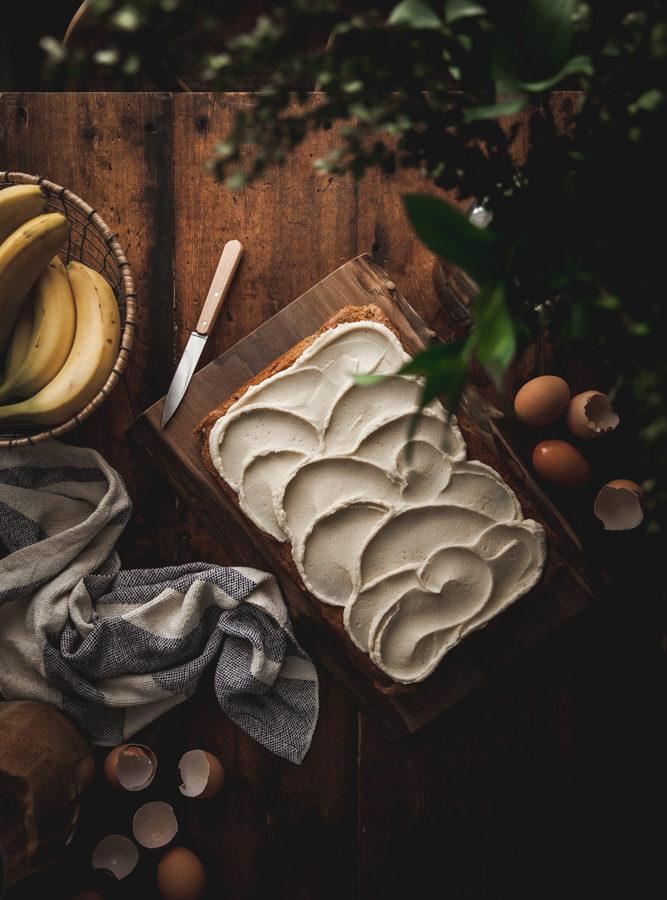One-bowl Browned Butter Banana Cake + Mascarpone Buttercream