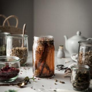 Cinnamon Rose Tea + Honey & Milk