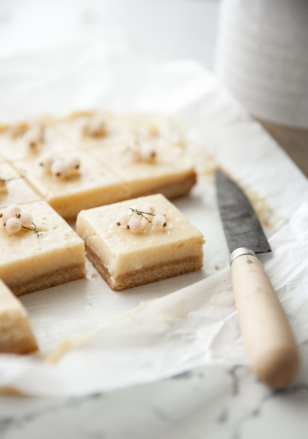 Lemon Cream Bars (paleo, grain free, refined sugar free)