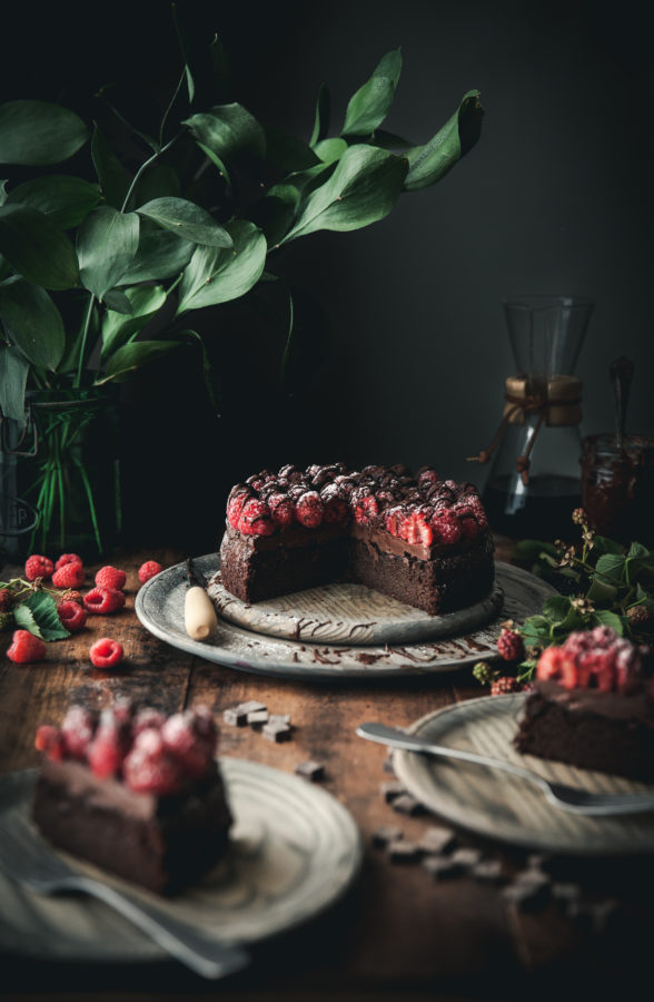 Grain-free Chocolate Raspberry Cake