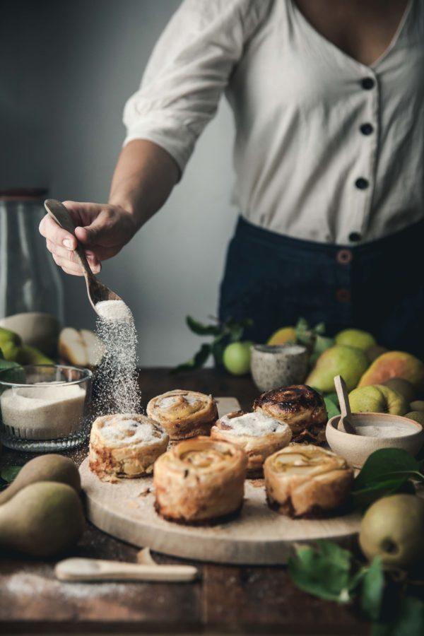Chai Custard Pear Pastry Puffs