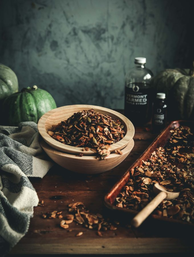 Maple Spiced Pumpkin Seed Granola