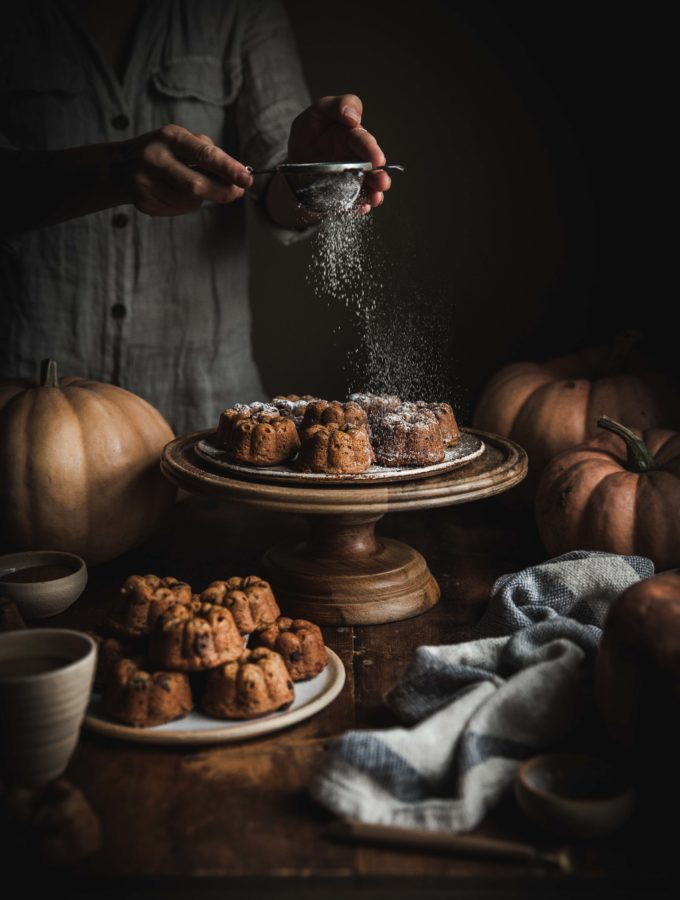 Pumpkin Chocolate Chip Mini Cakes (gluten & refined sugar free)