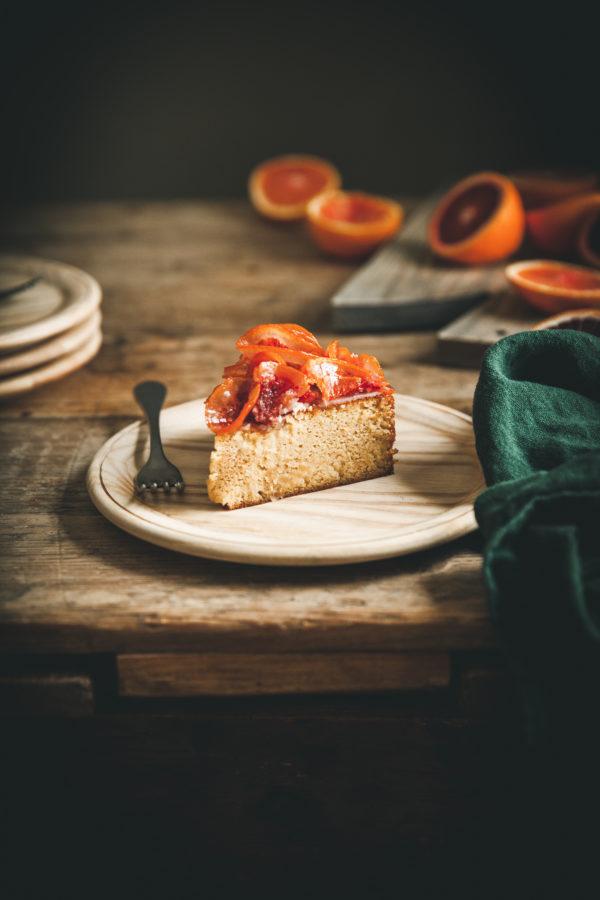 Whole Orange Almond Cake + Candied Citrus Ruffles